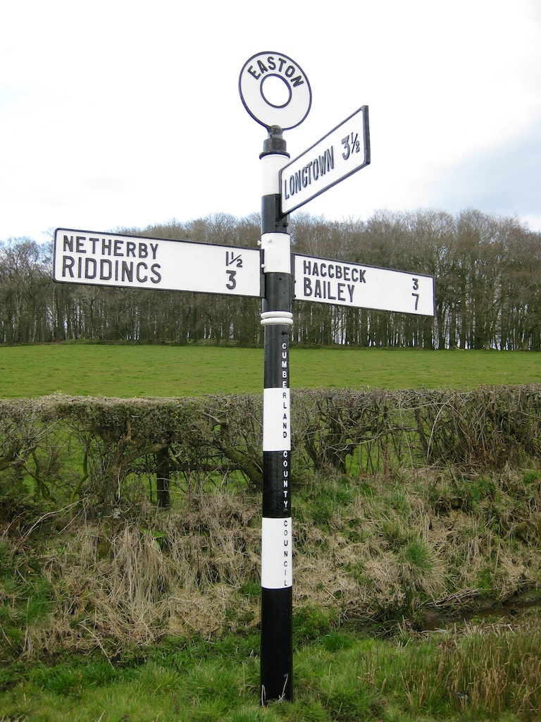 Old fashioned British signpost